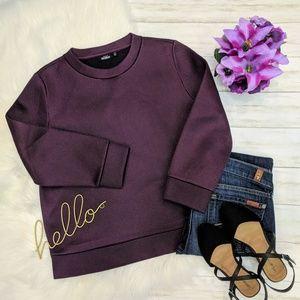 🌷 Kate Spade Saturday Scuba Mesh Sweatshirt